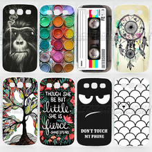 Case For Samsung Galaxy S3 Colorful Transparent Printing Drawing Phone Cover For Samsung i9300 Fashion Plastic Hard Phone Cases(China (Mainland))