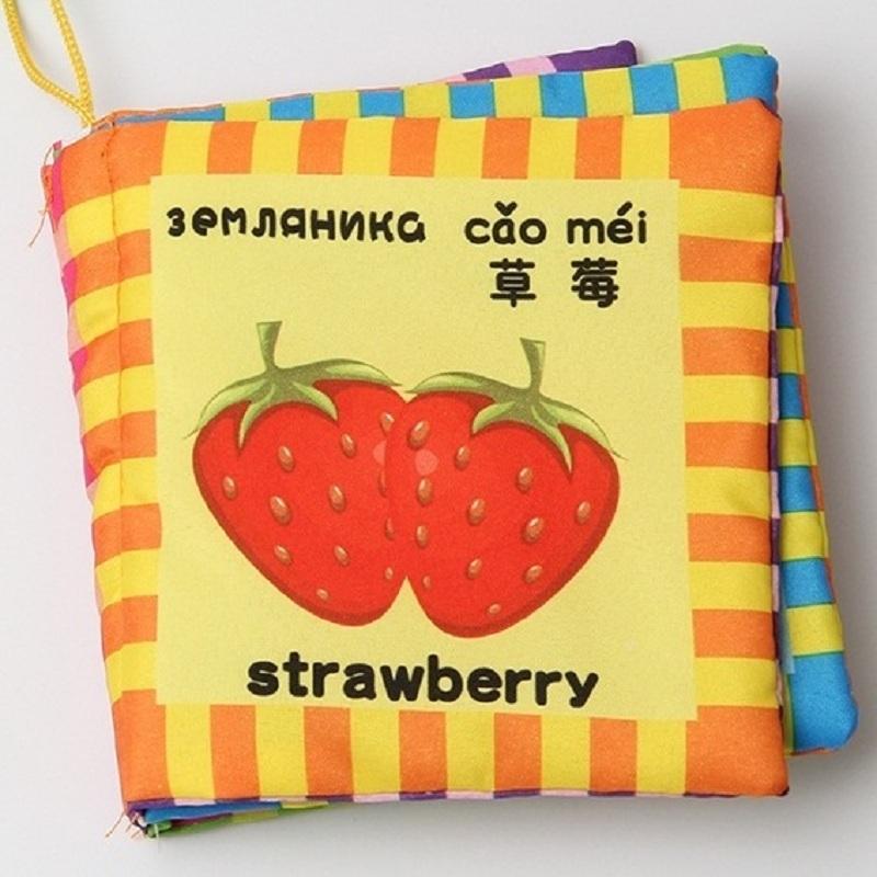 Russian&English Language Fabric Cloth Book Learning&Education Baby Toys 0~12 Months Juguetes Bebe Brinquedos Para Bebe KF002(China (Mainland))