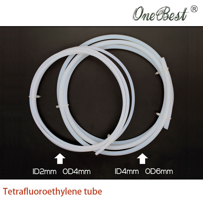 10 meter 2*4/4*6 Tetrafluoroethylene tube PTFE tube 3D printer imported Teflon remote nozzle feed tube guide tube free shipping(China (Mainland))