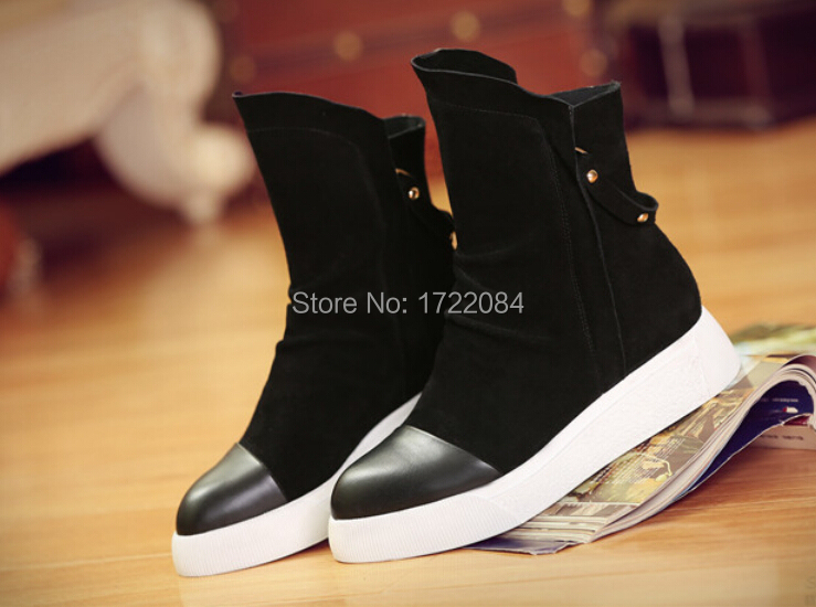 Women Autumn the first layer of cow leather boots ,Cool and Fashion Martin boots for Ladies(China (Mainland))