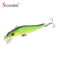 Brand Fishing Lure 8cm 5.7g Wobbler Pesca Minnow Hard Bait Isca Artificial Plastic Crankbait Fishing Tackle 5 Colors Available