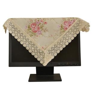 Derlook exquisite rustic fabric small table cloth multi-purpose towel universal cover towel 47 47cm