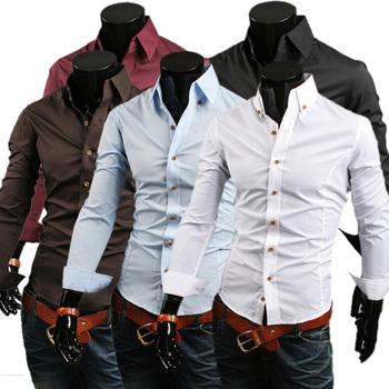 2014 new male basic shirt Bottom price Fast Shipping brand men's shirts leisure casual style shirts