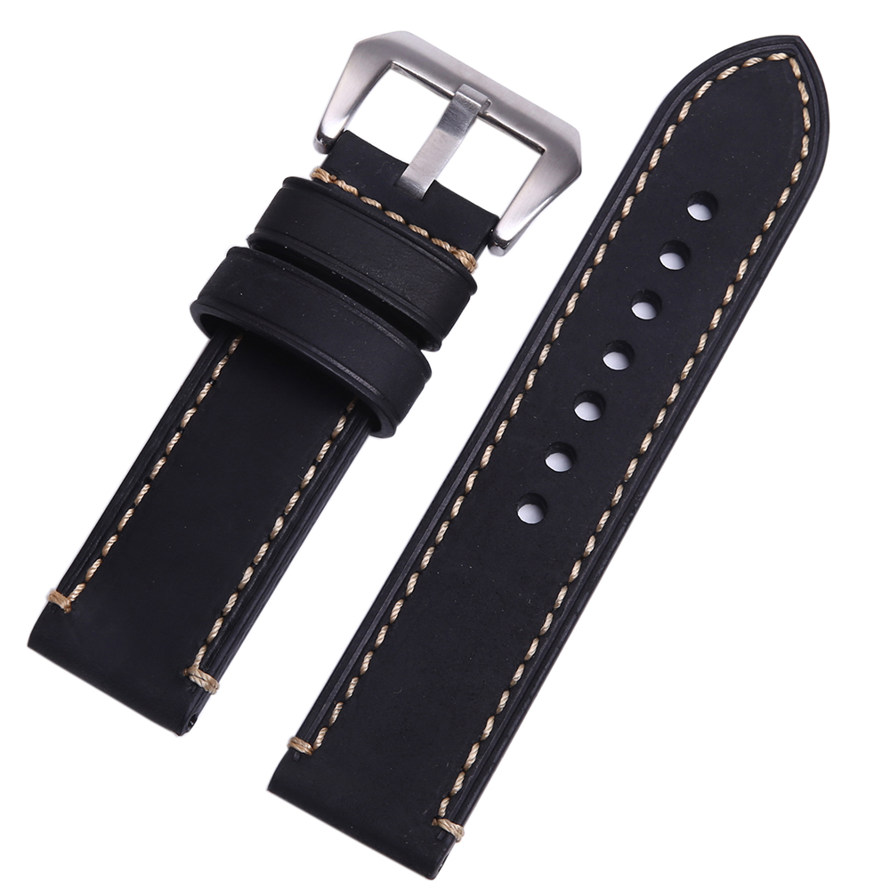 P style Hand made High Quality Fine Imported Italian Leather Watch Strap Band 20mm 22mm 24mm