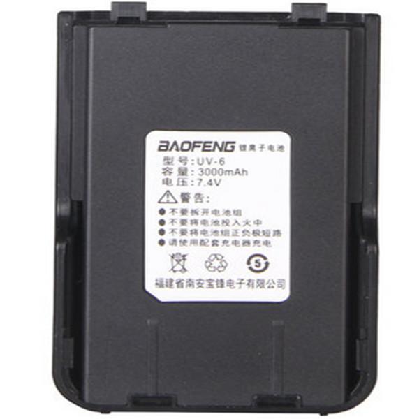New Practical 7.4V 3000mah Capacity Durable BaoFeng UV-6 Series Li-ion Battery Two Way Radio Walkie Talkie With UK EU US Plug(China (Mainland))