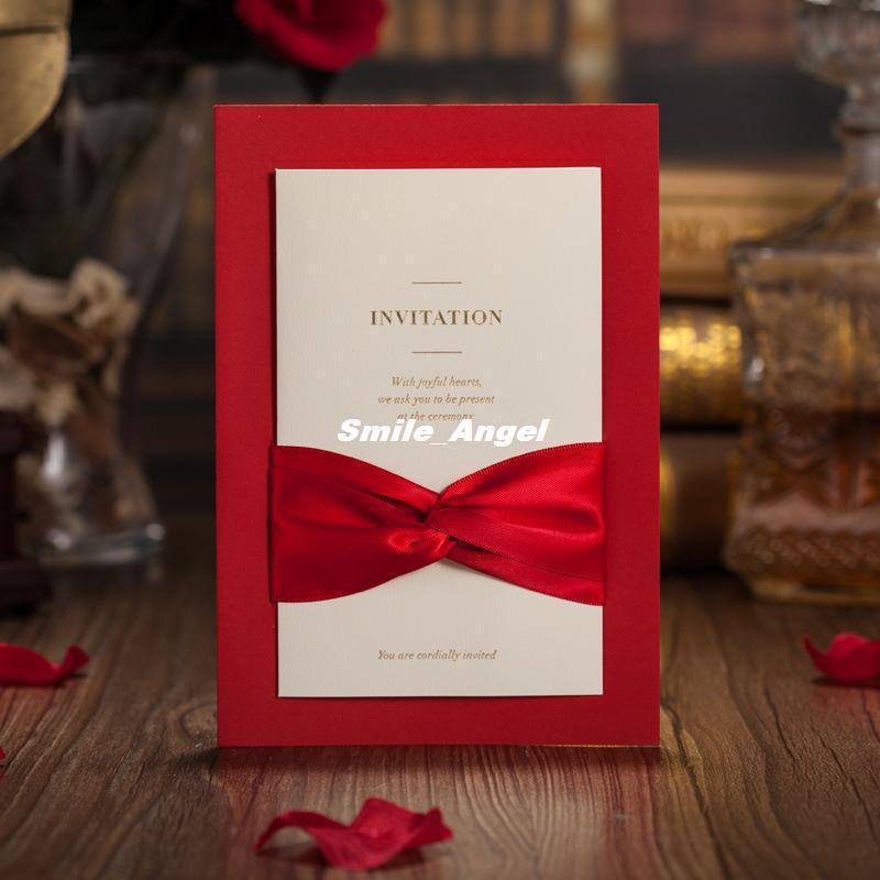 Attractive Red And White Wedding Invitation Designs