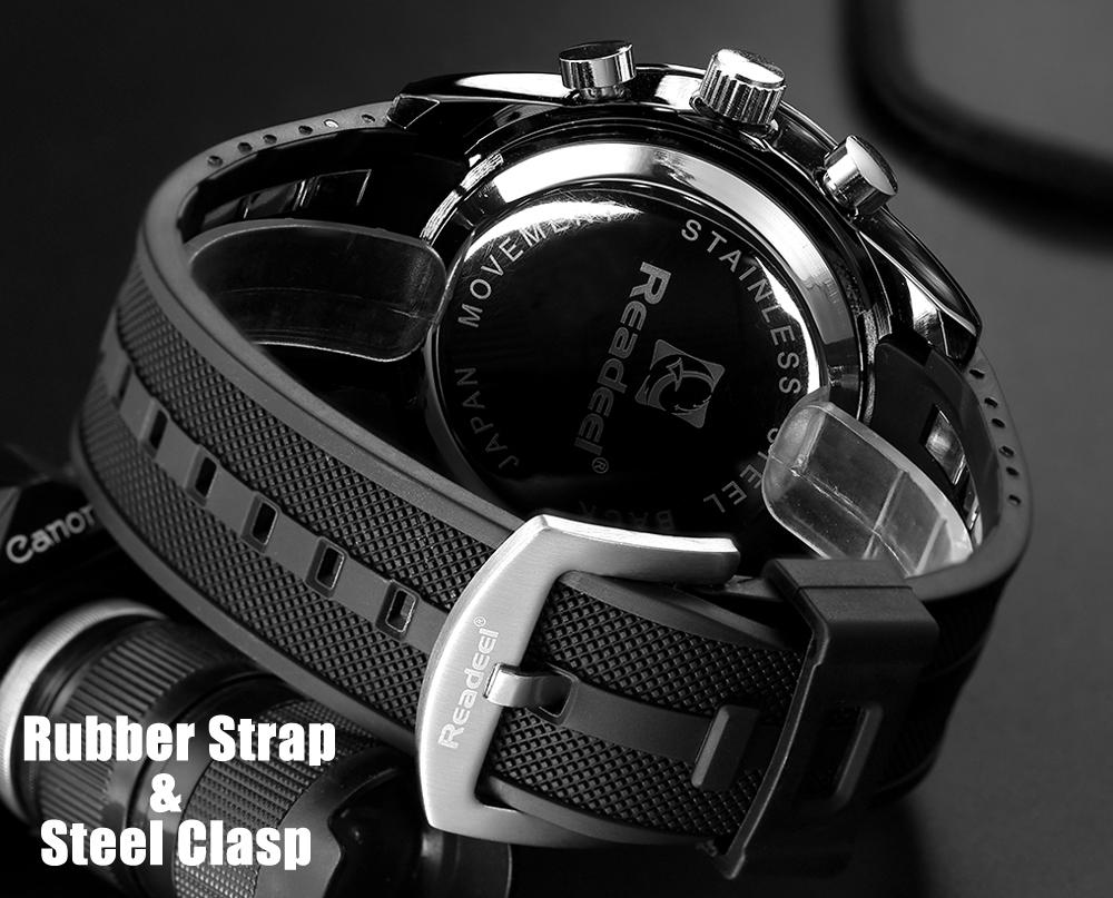 Роскошные брендовые часы мужские спортивные водонепроницаемый светодиодный 05