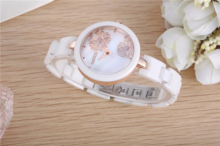 Новое Поступление K1187 100% Керамические BrandKEZZI Дамы Наручные Часы Кристалл Камень Керамические Часы Женщины бесплатная доставка