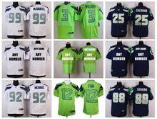 100% Stitiched,Seattle Seahawks,Marshawn Lynch,Richard Sherman,Russell Wilsons,Jimmy Graham,Earl Thomas,Customer customization(China (Mainland))
