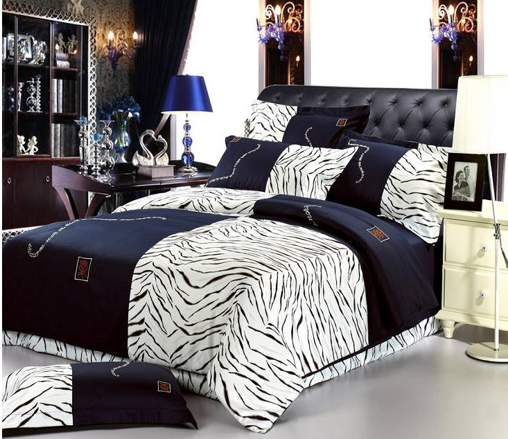 buy zebra 100 cotton bedding sets for