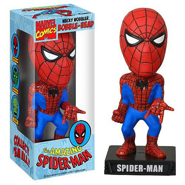 20pcs Sale Rushed Anime Dragon Ball Totoro Funko Spider-man Spiderman Wacky Wobbler Bobble Head Toy Doll 17cm wholesale(China (Mainland))