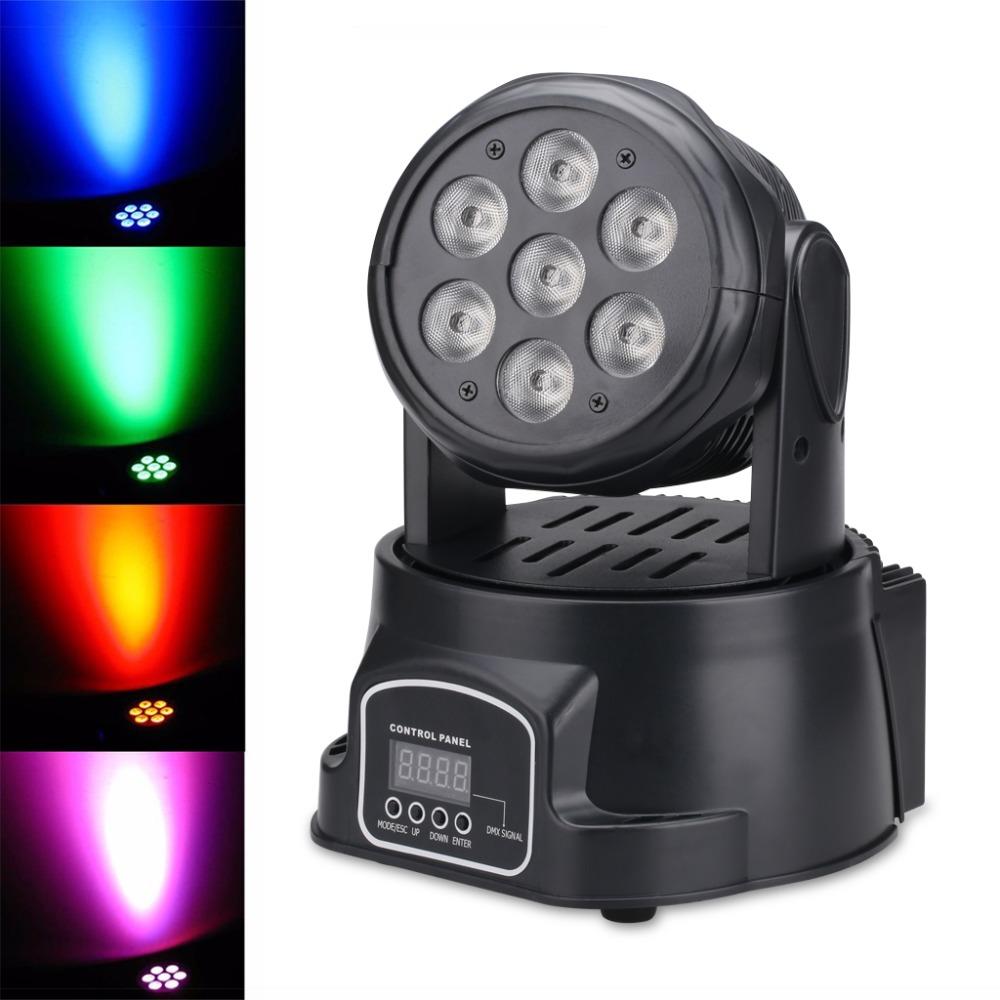 7*8W LED Spot Moving Head Light/USA Luminums LED DJ Spot Light 4 in 1 DMX Moving Head Stage Light Stage DJ Disco Party Lighting(China (Mainland))