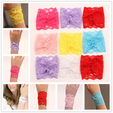 New Womens Sexy Floral Lace Cuffs Wrist Band Costume Lace Arm Warmers Party Wedding Accessories Free Shipping(China (Mainland))