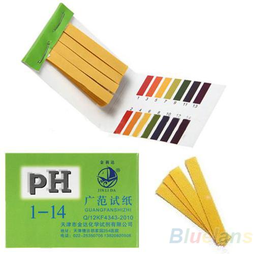 80 Strips Full Range pH Alkaline Acid 1-14 Test Paper Water Litmus Testing Kit 031N(China (Mainland))