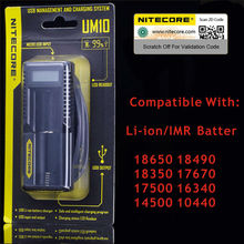 100% Original New Arrival Nitecore Smart Battery Charger UM10 Digicharger LCD Display Universal USB Power For Li-ion Battery(China (Mainland))