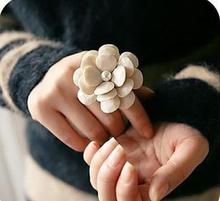 Fashion Exaggerated Resizable Big Flower Ring For Women B1R2