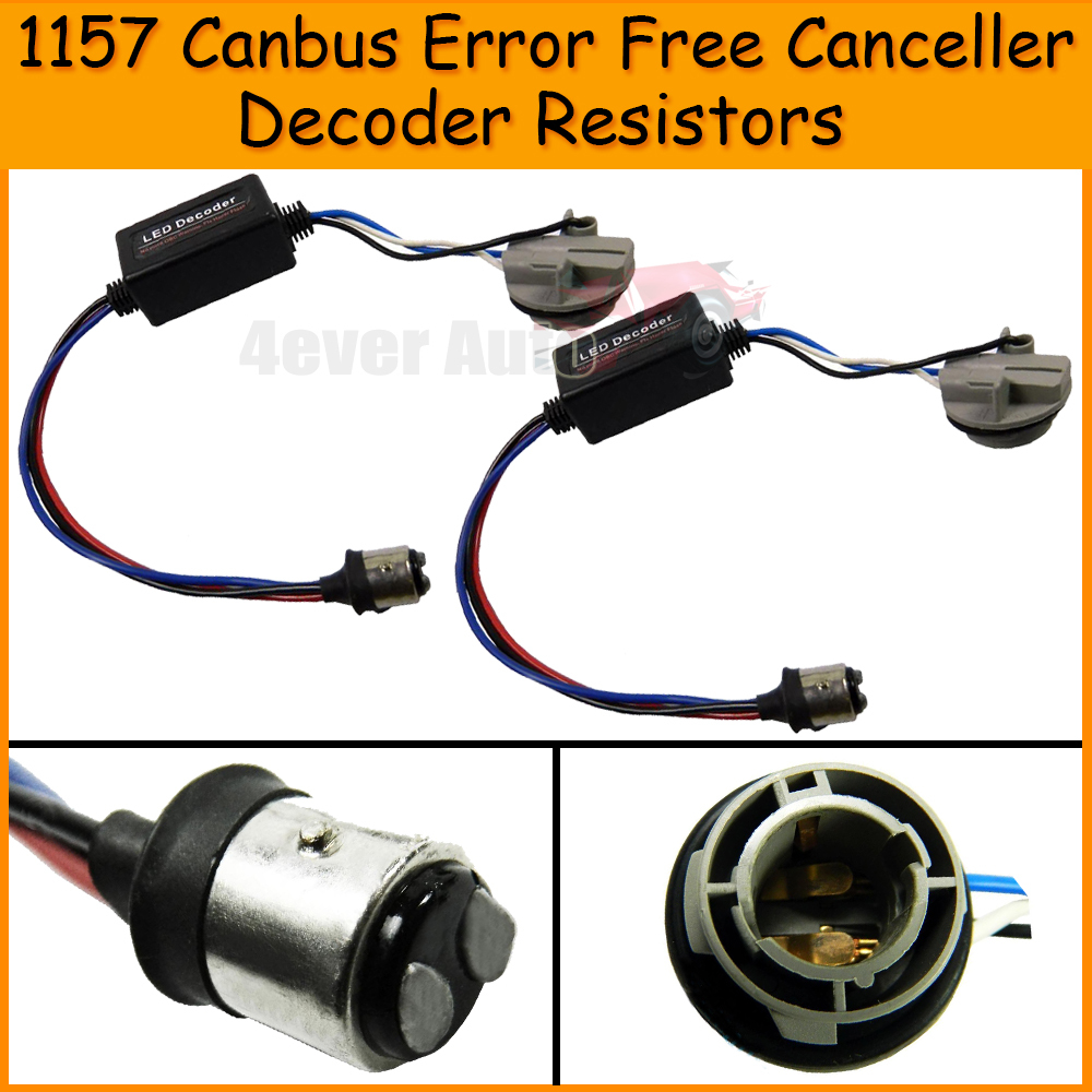2pcs 1157 Canbus Error Free Resistor LED Decoder Warning Error Canceller For 1157 2057 2357A 7528 BAY15D LED Turn Signal Bulb(China (Mainland))