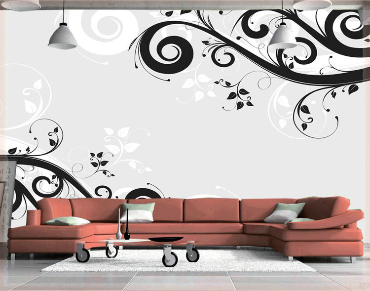 Modern and simple design 3 d large sitting room the bedroom room corridor screen maple mural wallpaper background picture papele(China (Mainland))