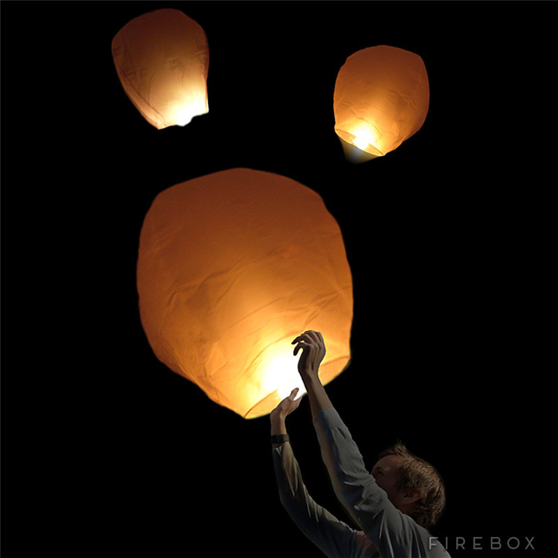 6pcs/lot Flame retardant oval paper flying sky lanterns with flame birthday party decorations 100% biodegradable free shipping(China (Mainland))