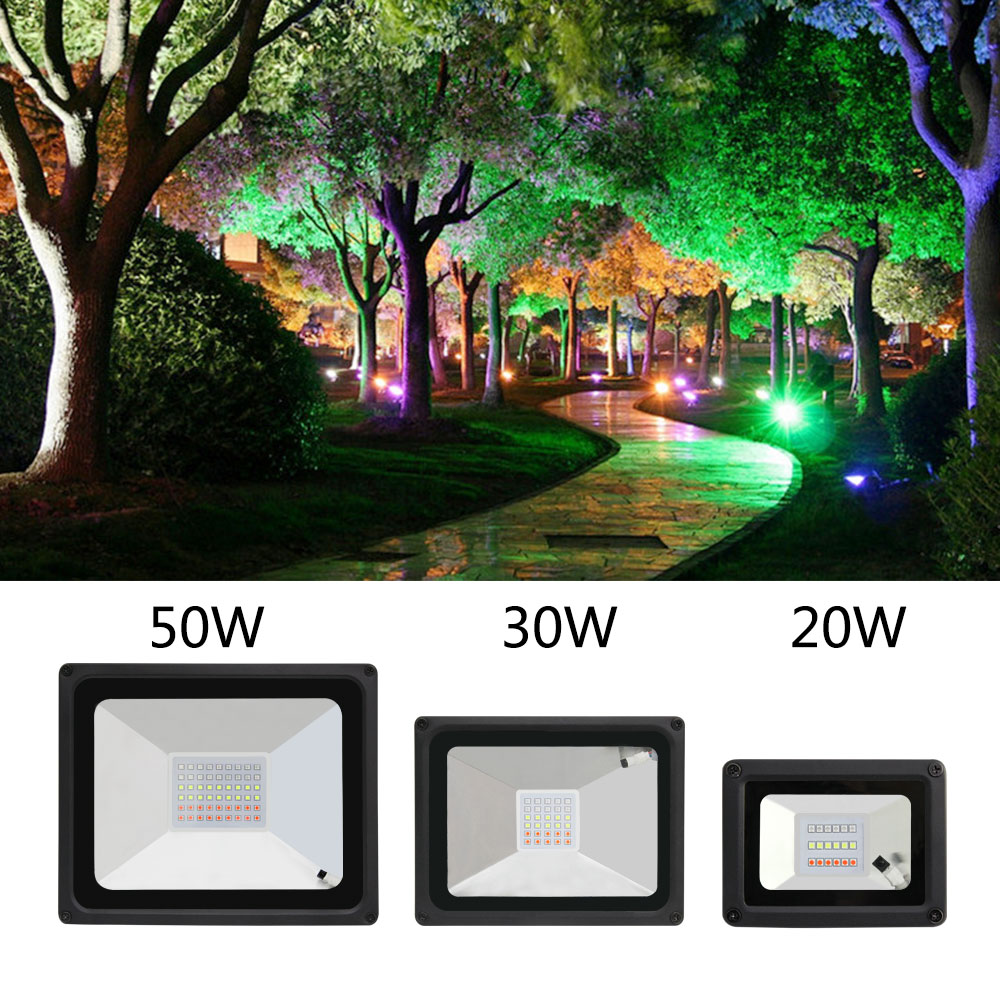 2017 NEW RGB Variable LED Floodlight lights 20 W 30 W 50 W led Spotlight Outdoor Lighting Landscape For Garden Street(China (Mainland))