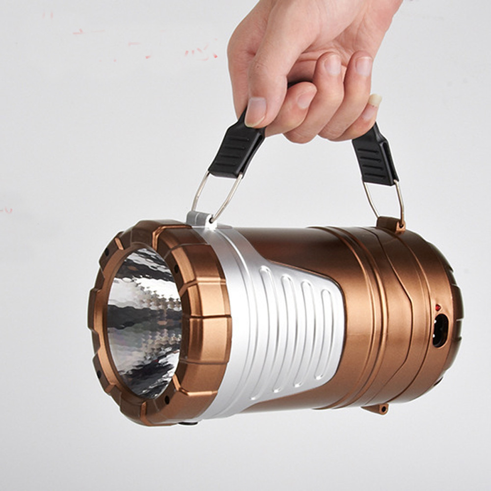 Solar USB Charge Portable Flashlight Outdoor Camping Lantern lampe led ongles High Power Brightest Rechargeable Flash Light(China (Mainland))