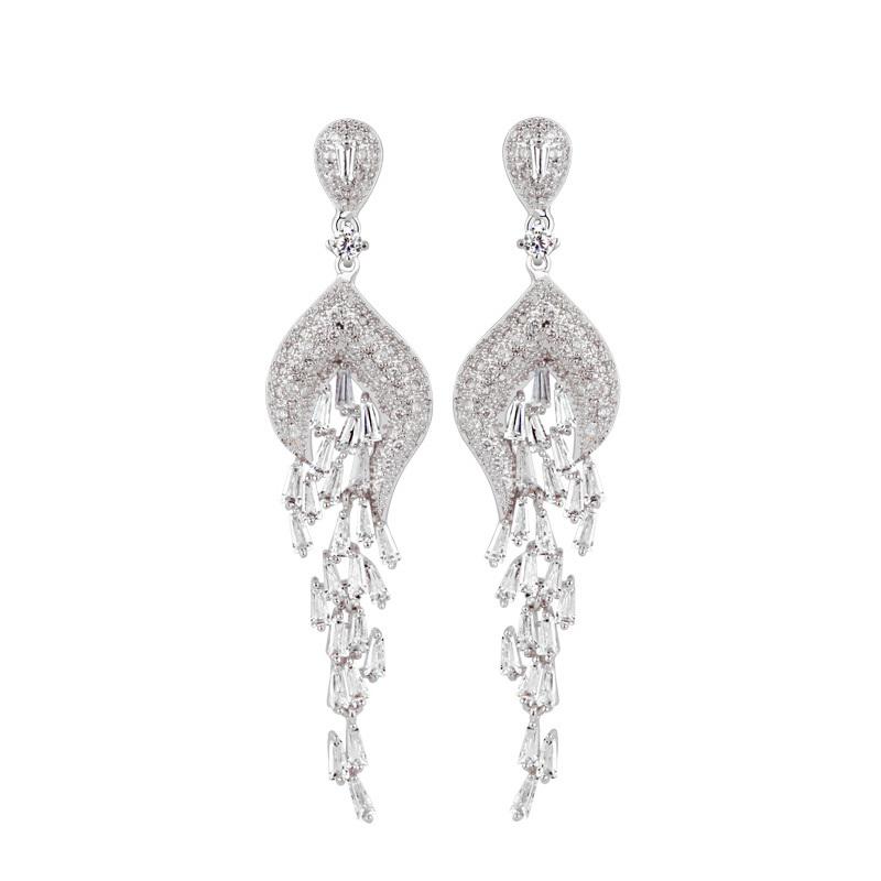 Diamond Earrings Long TopEarrings – Black Diamond Chandelier Earrings