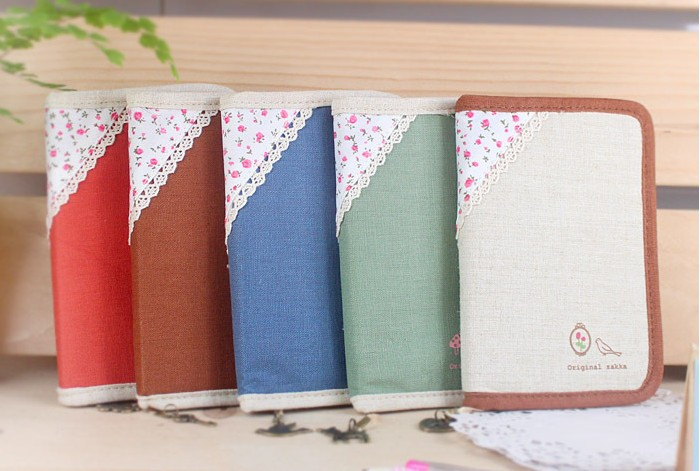Freeshipping/New vintage fabric flower cover Notebook/Paper Notepad/diary/Fashion gifts/ Korean Stytle /Wholesale(China (Mainland))