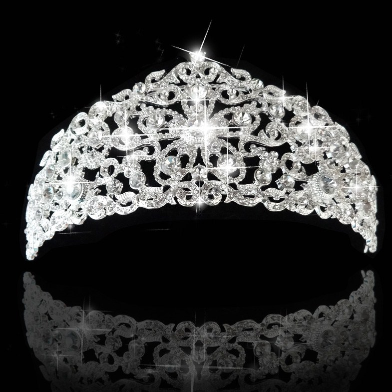 Luxury fashion Tiara and Crown princess crown bride head piece jewelry For Wedding bride quinceanera tiaras free shipping CY-003(China (Mainland))