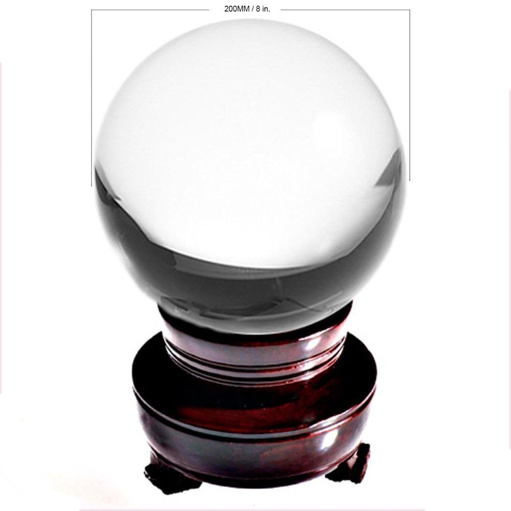 Ship from USA 200mm Rare Clear Asian Quartz feng shui ball Crystal Ball Sphere Fashion Table Decor Good Luck Ball Free Shipping(China (Mainland))