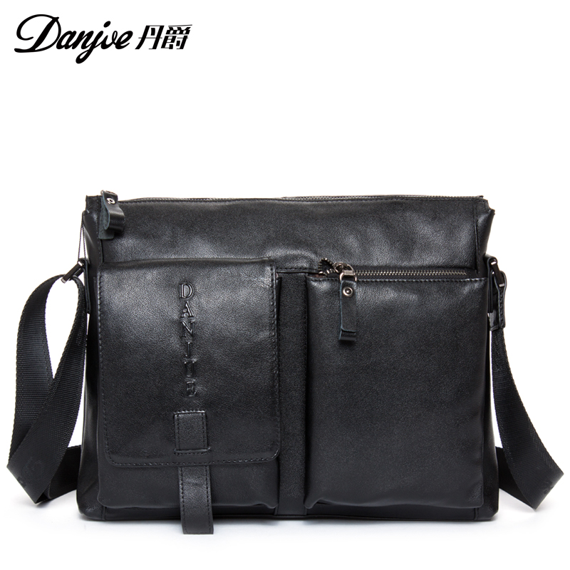 Fashion sport male travel bags first layer genuine leather men messenger bag cover double outer bag man crossbody bag firm(China (Mainland))