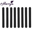 8pcs Nail art straight Sanding sand Files Black Styling Buffer Buffing For Salon Manicure UV Gel