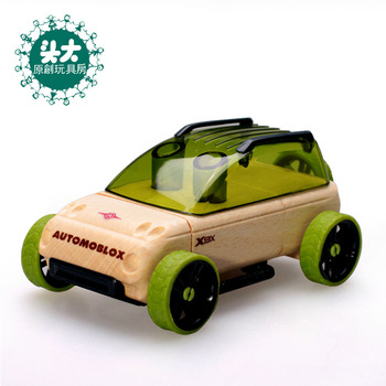 Large assembling puzzle beech wooden toy magicaf car 55105 55108 mini cars
