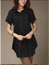 high quality plus size clothing casual all-match loose short-sleeve shirt clothing shirts womens summer clothes for women