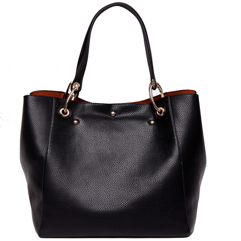 Soft Casual Women Shoulder Bags Genuine Leather Female Big Tote Bags for Ladies Messenger Cattle Split Handbag Large Capacity(China (Mainland))