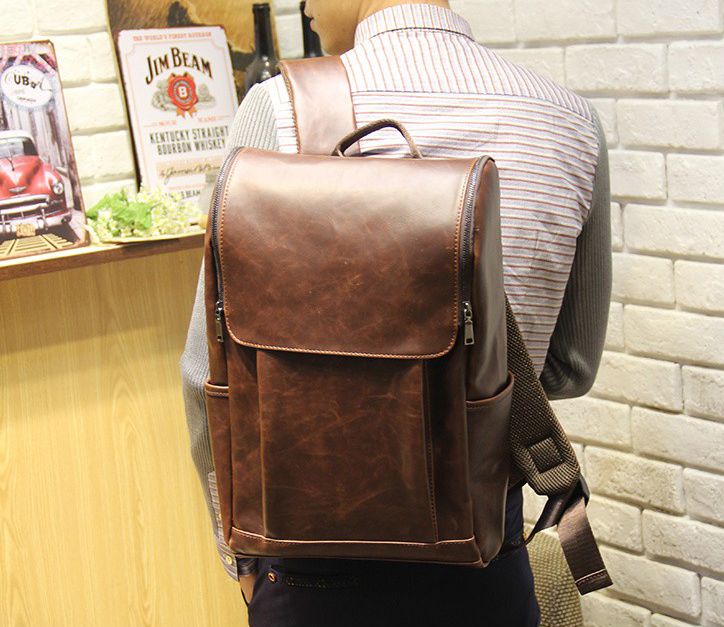 Fashion casual PU backpack women and men travel bags schoolbag<br><br>Aliexpress