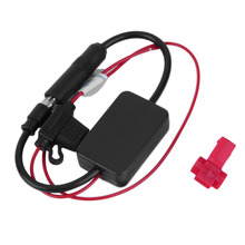 New Black 12V Car Automobile Radio Signal Amplifier ANT-208 Auto FM/AM Antenna Booster hot selling(China (Mainland))