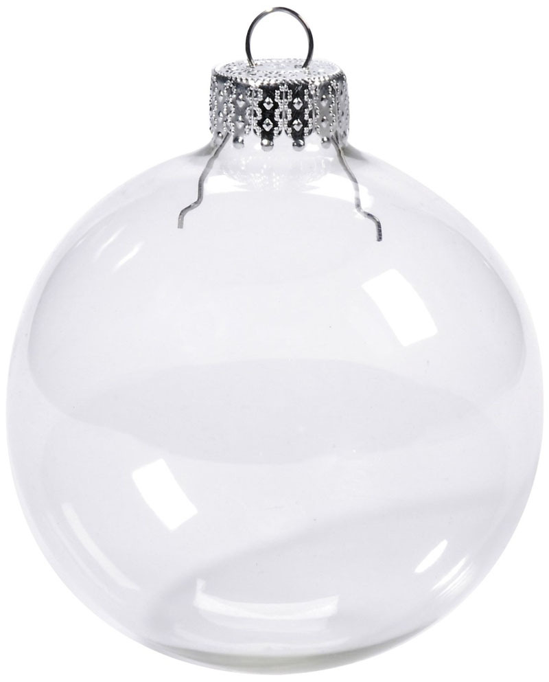 Free Shipping DIY Paintable Clear Christmas Ornament Decoration 80mm Glass Ball With a Silver Top, 400/Pack(China (Mainland))