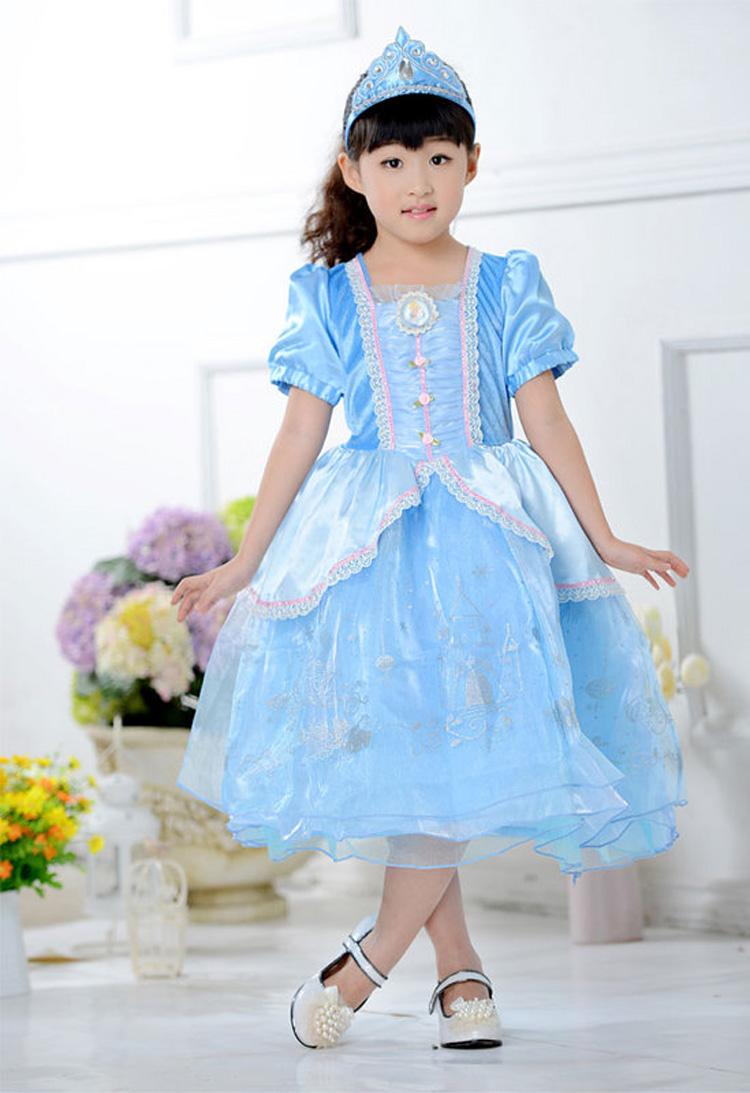 wholesale 2015 New Summer Girl Princess Cosplay Cinderella Dresses Party Dress Children Vestidos Infantis<br><br>Aliexpress