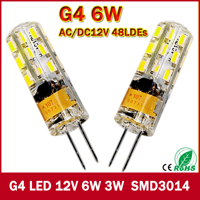 2015 New 1pcs 540Lumen 3W 6W G4 LED 12V AC DC 24/48 X3014 SMD Bulb Lamp free shipping(China (Mainland))