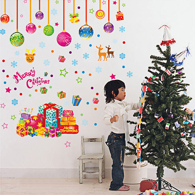 Buy 2016 christmas festival wall stickers for Christmas wall mural