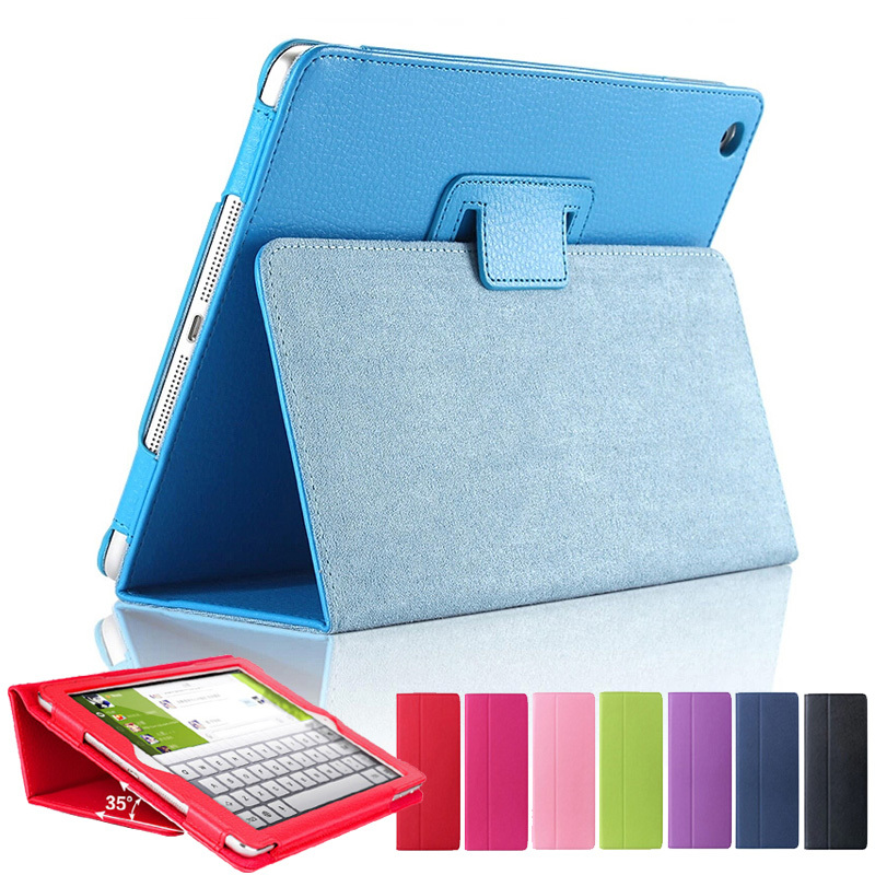 For ipad 2/3/4 Matte Litchi Surface Soft Leather Cover With Auto Sleep /Wake Up Function For Apple ipad 4/3/2 Magnetic Flip Case(China (Mainland))