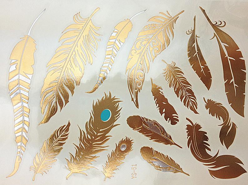 Дизайн многоцветный металлический глаза ожерелье узор продукты секса водонепроницаемый временный татуировки браслет флэш-тату xy-n470
