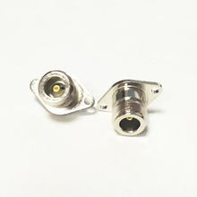Buy NEW N Female Jack RF Coax Adapter convertor solder cup 2-hole panel mount Nickelplated wholesale for $1.22 in AliExpress store