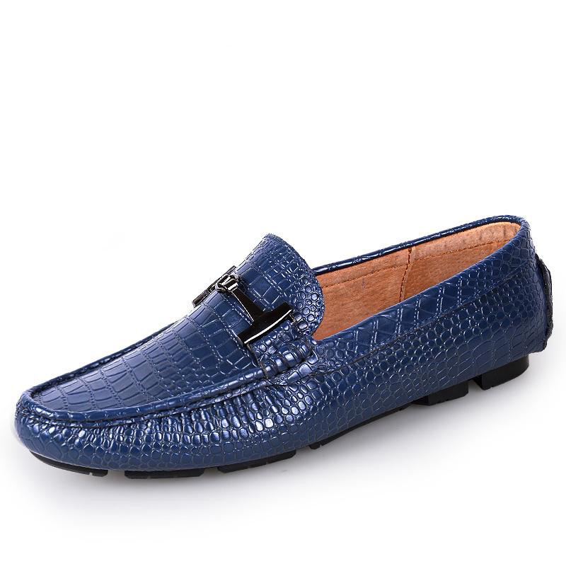 Crocodile Shoes Men Summer Shoes Casual Men Flats Summer Men Shoes Leather Breathable Horse Brand Luxury(China (Mainland))