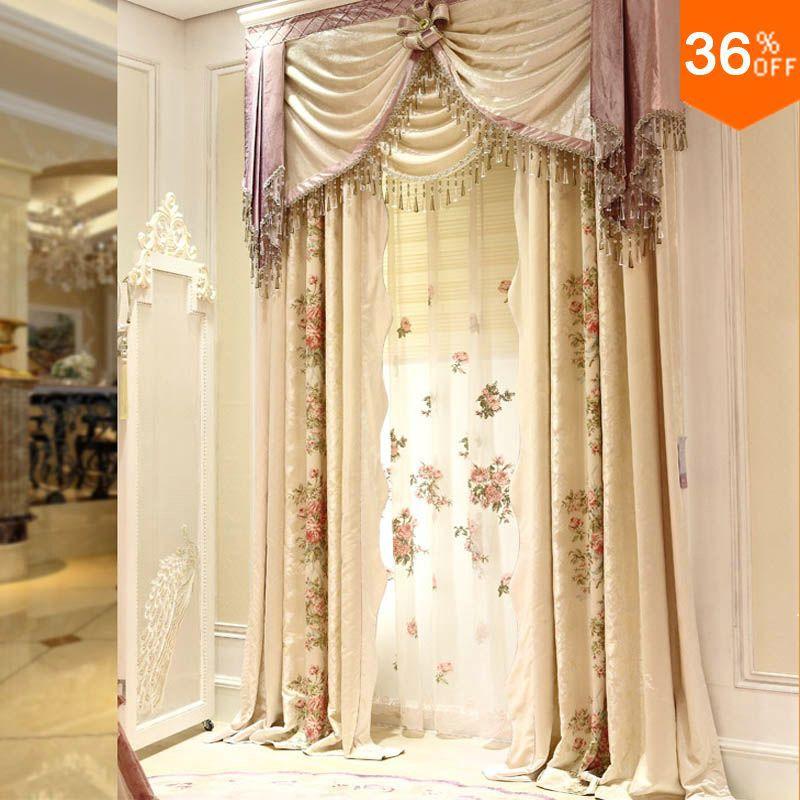 Comprar 2016 flor del bordado cortinas for Novedades en cortinas 2016
