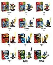 JX1013/JX1014 Building Blocks Sets Super Heroes Avengers Ninja Kaj/Jaya/Zane/Morro/Ronin/Jay/Nya/Cole/Cowler/Wrayth Minifigures (China (Mainland))