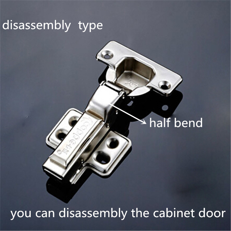 Stainless steel half bend hinges disassembly hinges for wooden cabinet door wardrobe hinges cupboard hinges hardware accessories(China (Mainland))