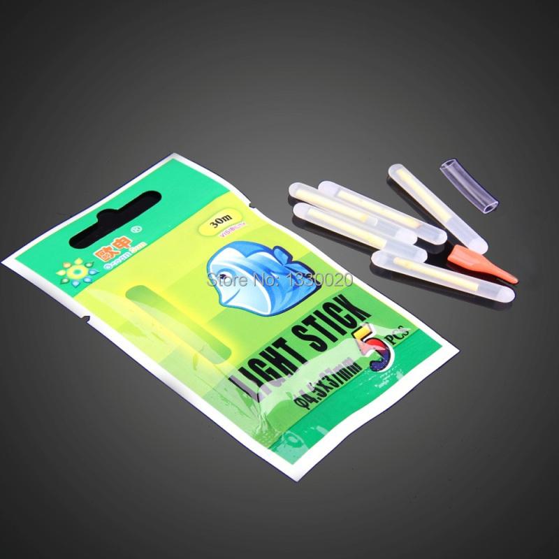 Гаджет  Free shipping 50Pcs Fishing Night Fluorescent Light Float Glow Stick Lightstick 4.5*37mm   LG5D None Спорт и развлечения