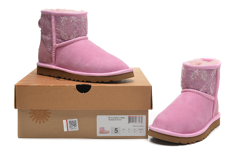 Light Pink Ankle Boots Boots Lace Pink/light