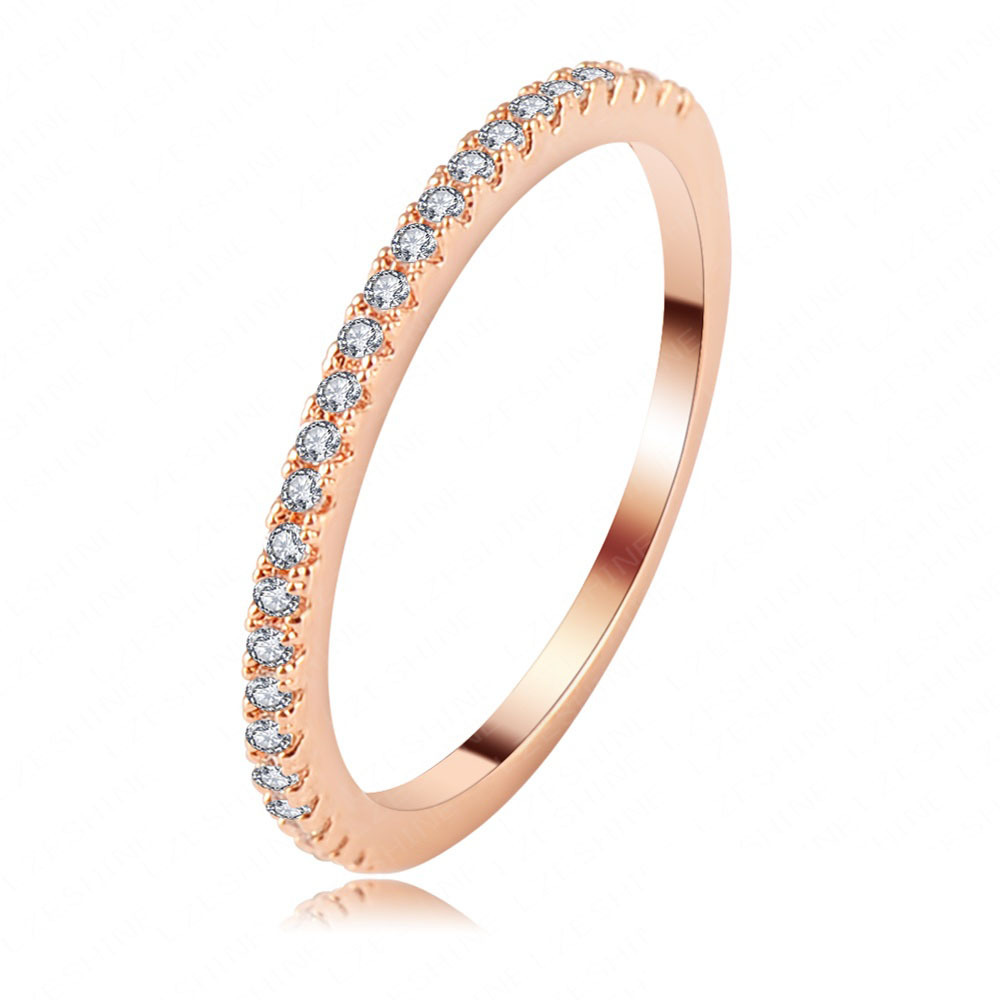 LZESHINE Brand Women Fashion 2013 Engagement Ring Rose Gold SWA Elements Austrian Crystal Wedding Ring Free Shipping CRI0117-A(China (Mainland))